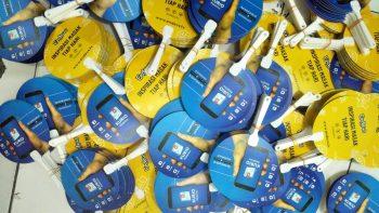 Kipas Plastik Promosi Aplikasi Kurio