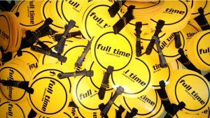 Kipas Promosi Bahan Art Carton Full Time