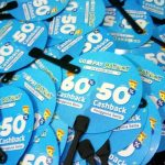 Cetak Kipas Promosi Bahan Art Carton Go Pay