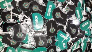 Kipas Promosi Uchiwa - Stiker Kobelco